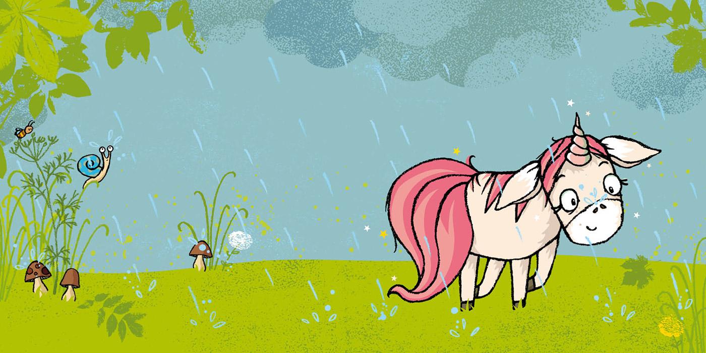 Das Einhorn sucht den Regenbogen
